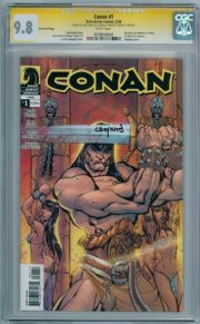 Conan #1 2nd Print Campbell Variant CGC 9.8 Signature Series Signed Cary Nord Dark Horse comic book